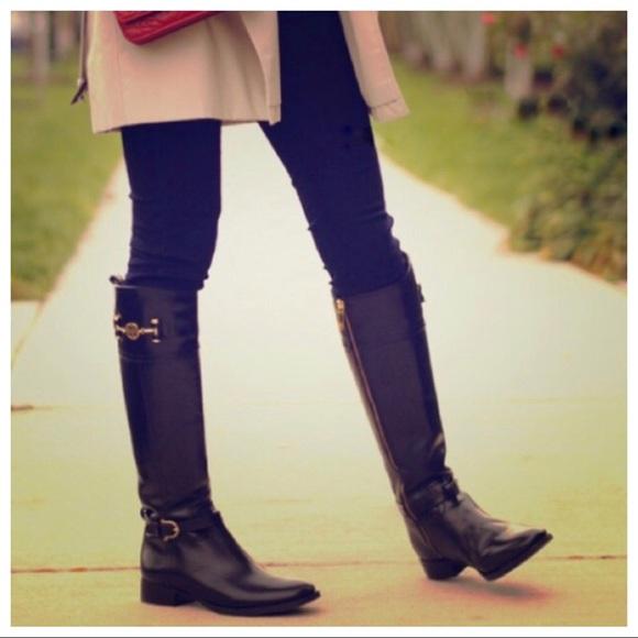 2560b52754c4f5 Tory Burch Nadine Leather Knee High Riding Boots. M 5b2991b9aa57199dae3c1283